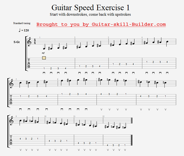 Guitar Speed Exercise 1