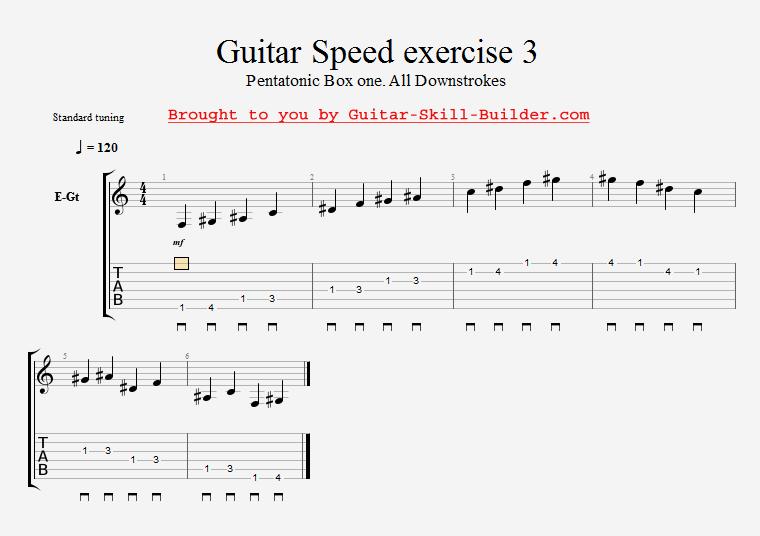 guitar speed exercises - Training for maximum agility and quickness