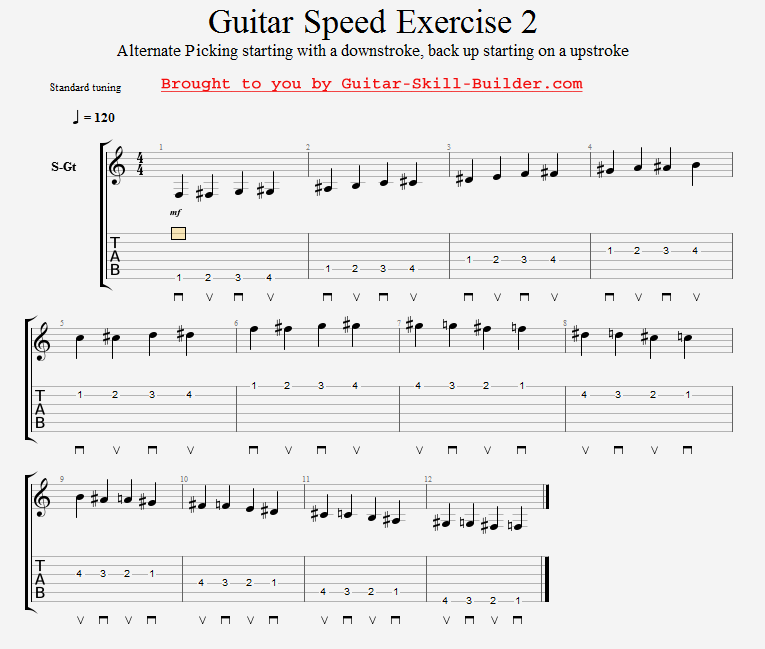 Guitar Speed Exercise 2